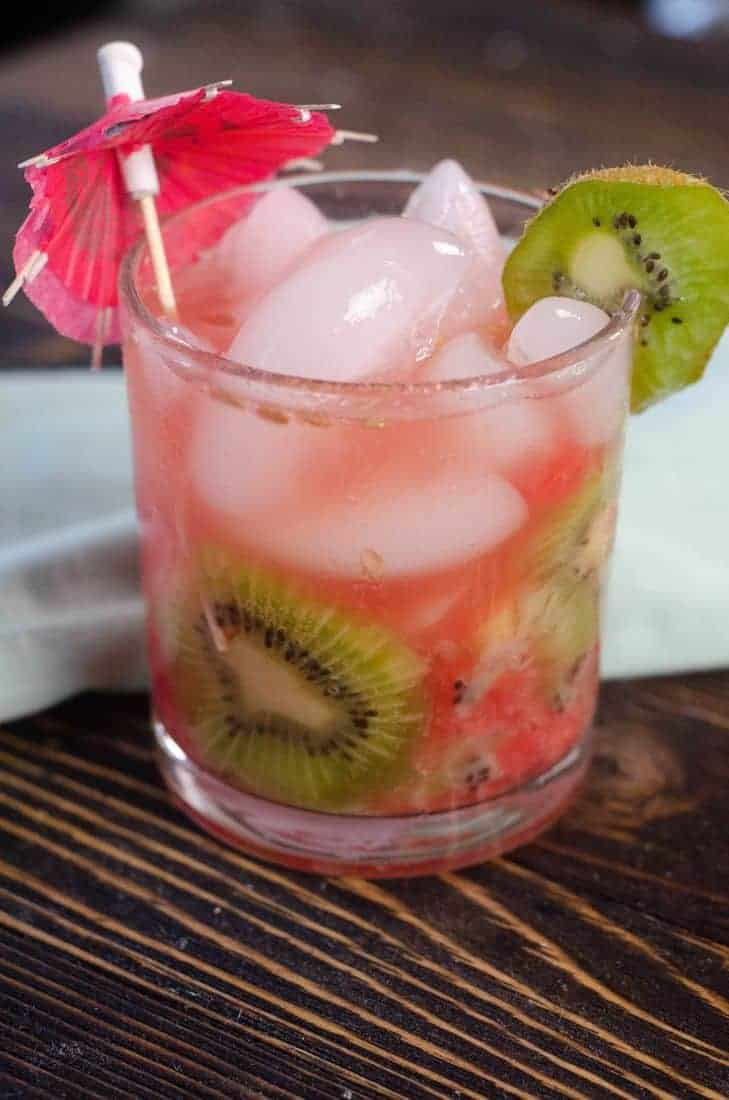 Refreshing Watermelon Kiwi Spritzer