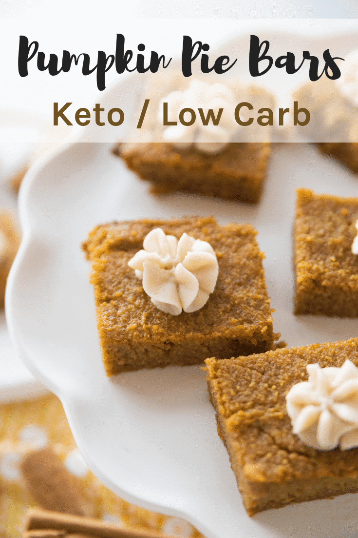 Keto Pumpkin Pie Bars / Mouthwatering & Delicious