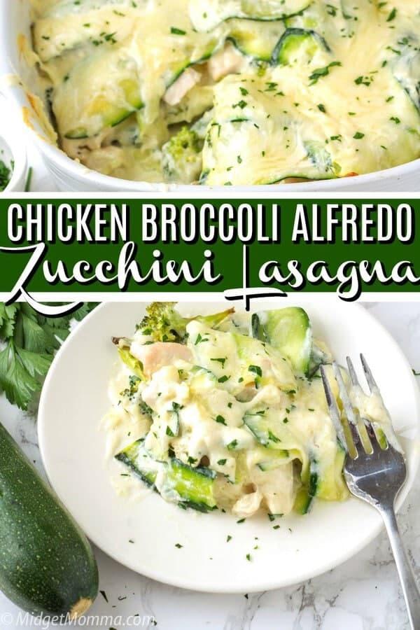 Chicken and Broccoli Alfredo Zucchini Lasagna